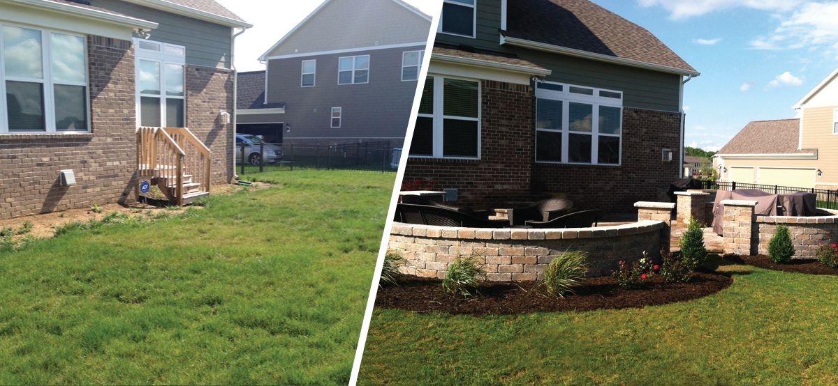 Before and After - Paver Patio
