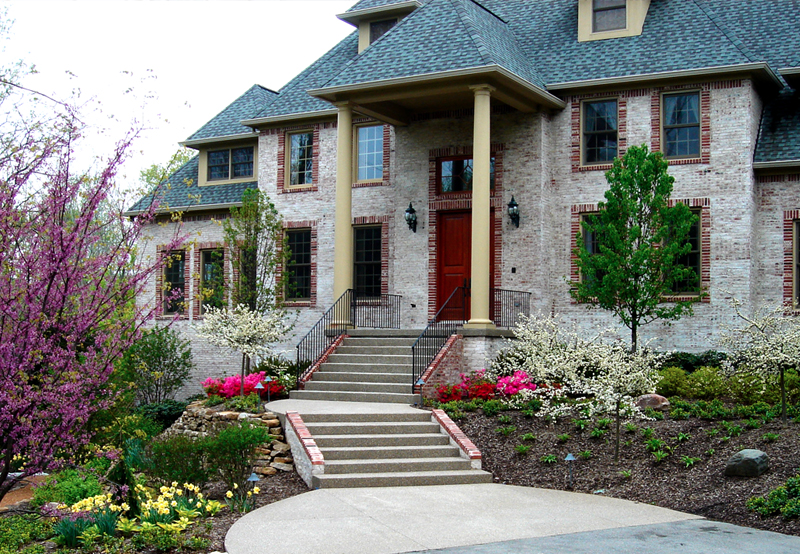 Flower Bed Front Entry