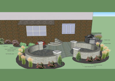 Paver Patio Design & Install - CAD rendering